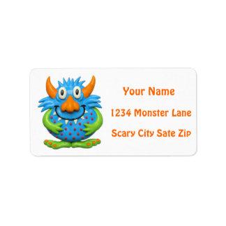 Fiesta del monstruo etiqueta de dirección