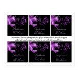 Fiesta del negro de la lila de la púrpura del Mis  Tarjeta Postal