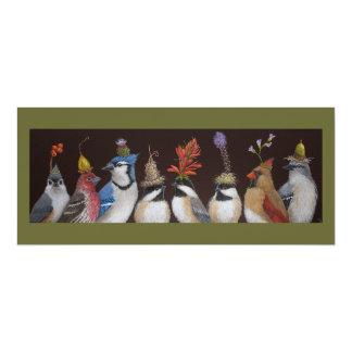 """Fiesta del pájaro en la tarjeta plana #10 invitación 4"""" x 9.25"""""""