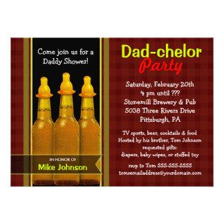 Fiesta del Papá-chelor - invitaciones de la fiesta Invitaciones Personales
