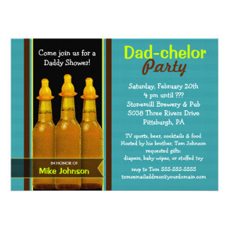 Fiesta del Papá-chelor - invitaciones de la fiesta Comunicados