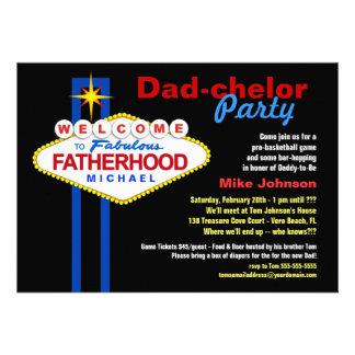 Fiesta del Papá-chelor - invitaciones del barrilet Comunicado