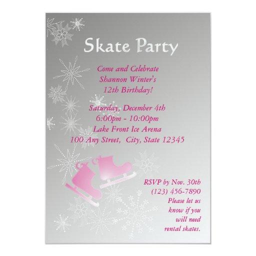 """Fiesta del patinaje de hielo invitación 5"""" x 7"""""""