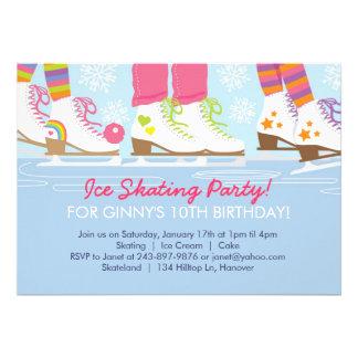 Fiesta del patinaje de hielo para los chicas