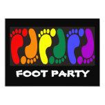 Fiesta del pie invitación 12,7 x 17,8 cm