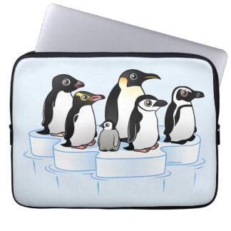Fiesta del pingüino mangas portátiles