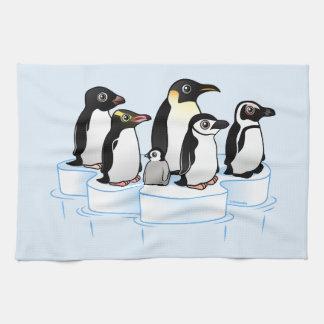 Fiesta del pingüino toallas de cocina