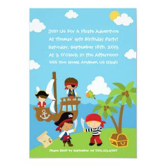 Fiesta del pirata - invitaciones personalizadas comunicado