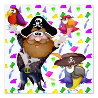 "¡Fiesta del pirata! - SRF Invitación 5.25"" X 5.25"""