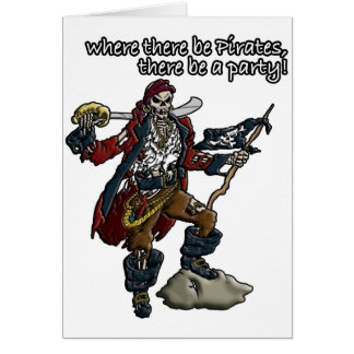 ¡Fiesta del pirata! Tarjeta De Felicitación