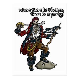 Fiesta del pirata tarjeta postal