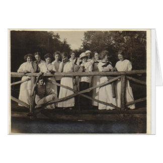 Fiesta del puente tarjeta de felicitación
