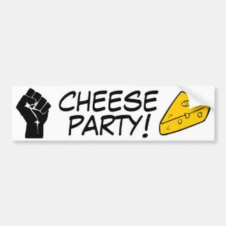 Fiesta del queso pegatina para auto
