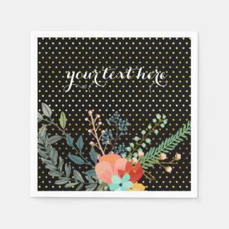 Fiesta del ramo floral * elija el color de fondo servilletas de papel