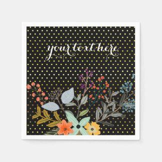 Fiesta del ramo floral * elija el color de fondo servilletas desechables