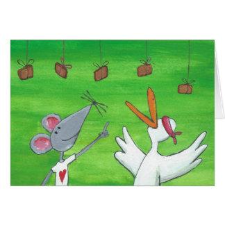 Fiesta del ratón tarjeta de felicitación