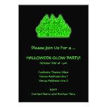 Fiesta del resplandor de Halloween de la verde lim Invitaciones Personalizada