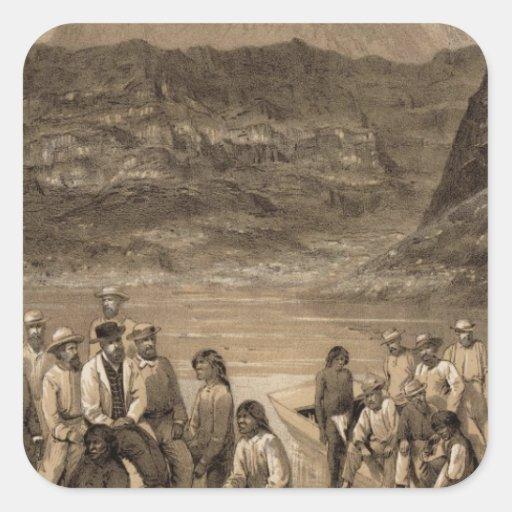 Fiesta del río Colorado, cala del diamante Pegatina Cuadrada