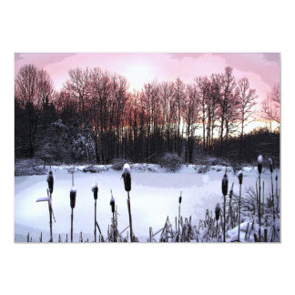 """Fiesta del solsticio de invierno invitación 5"""" x 7"""""""