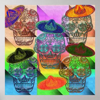 Fiesta del sombrero póster