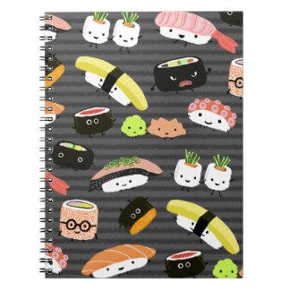 Fiesta del sushi - sushi Rolls, Sashimi, Wasabi, Note Book