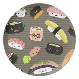 Fiesta del sushi - sushi Rolls, Sashimi, Wasabi, Plato De Comida