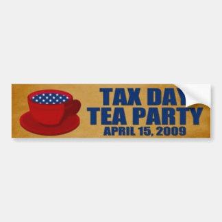 Fiesta del té 15 de abril de 2009 pegatina de parachoque