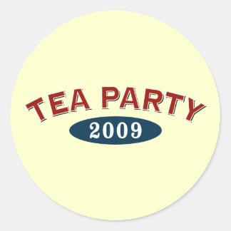 Fiesta del té 2009 pegatinas redondas