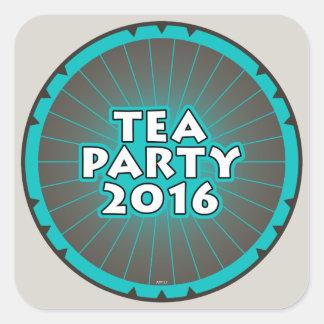 Fiesta del té 2016 pegatina cuadrada
