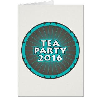 Fiesta del té 2016 tarjeta de felicitación