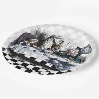 Fiesta del té 2 plato de papel de 9 pulgadas
