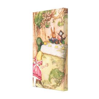 Fiesta del té 4 impresión en lienzo estirada