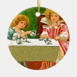 fiesta del té adornos de navidad