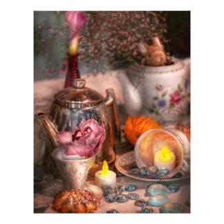 Fiesta del té - amaría comer algo de té flyer a todo color