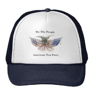 Fiesta del té americana nosotros el gran gorra de