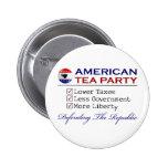 Fiesta del té americana pin