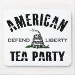 Fiesta del té americana tapetes de ratón
