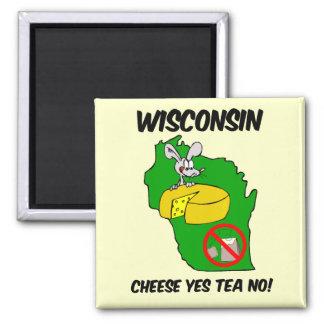 Fiesta del té anti de Wisconsin Imanes Para Frigoríficos