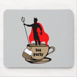 Fiesta del té anti del diablo mouse pads