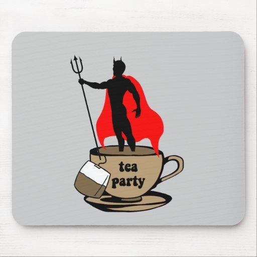 Fiesta del té anti del diablo tapetes de ratones