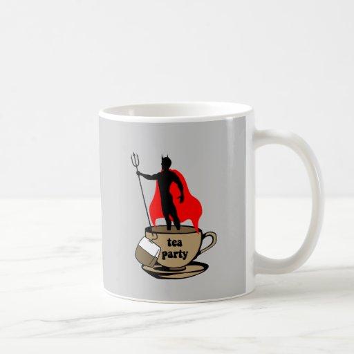 Fiesta del té anti del diablo tazas de café