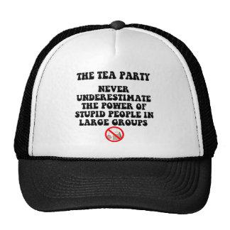 Fiesta del té anti gorros bordados