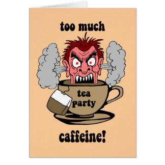 Fiesta del té anti tarjeta de felicitación