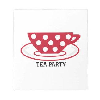 Fiesta del té libretas para notas