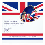 Fiesta del té británica invitacion personalizada