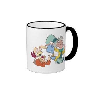 Fiesta del té con el sombrerero enojado Disney Taza De Dos Colores