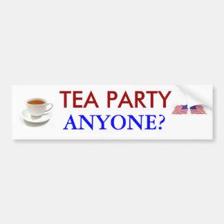 ¿Fiesta del té cualquier persona? Pegatina para el Pegatina Para Auto