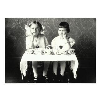 """Fiesta del té de 1900 novias invitación 5"""" x 7"""""""