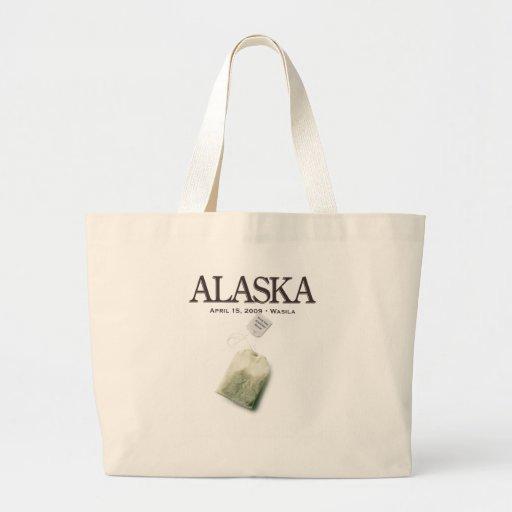 Fiesta del té de Alaska Wasila Bolsa Tela Grande