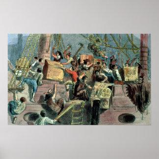Fiesta del té de Boston, el 16 de diciembre de 177 Poster